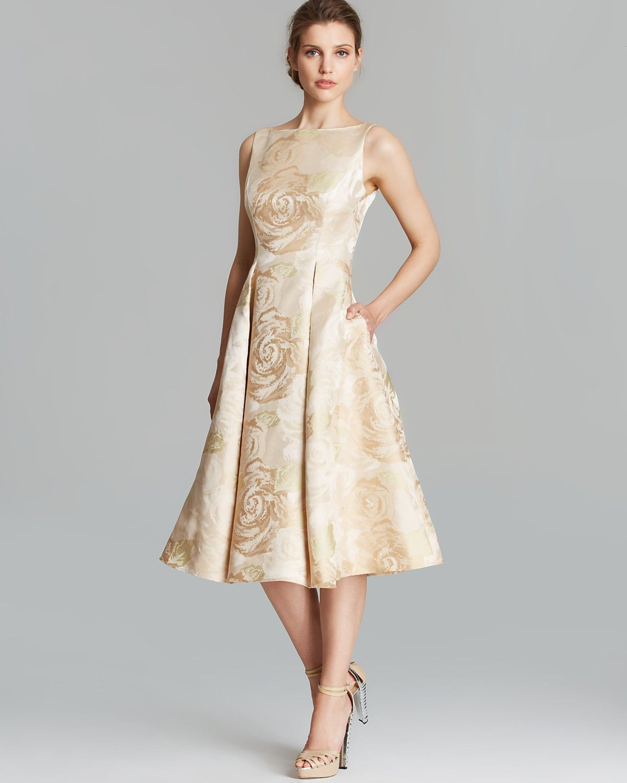 Adrianna Papell Dress Sleeveless Brocade Tea Length Women Dresses Bloomingdale S Tea Length Bridesmaid Dresses Tea Length Formal Dresses Black Tea Length Dress