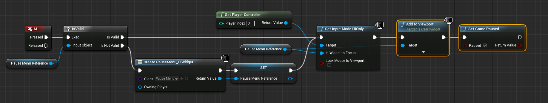 5 creating scripting an in game pause menu unreal engine ue4 creating scripting an in game pause menu unreal engine malvernweather Gallery