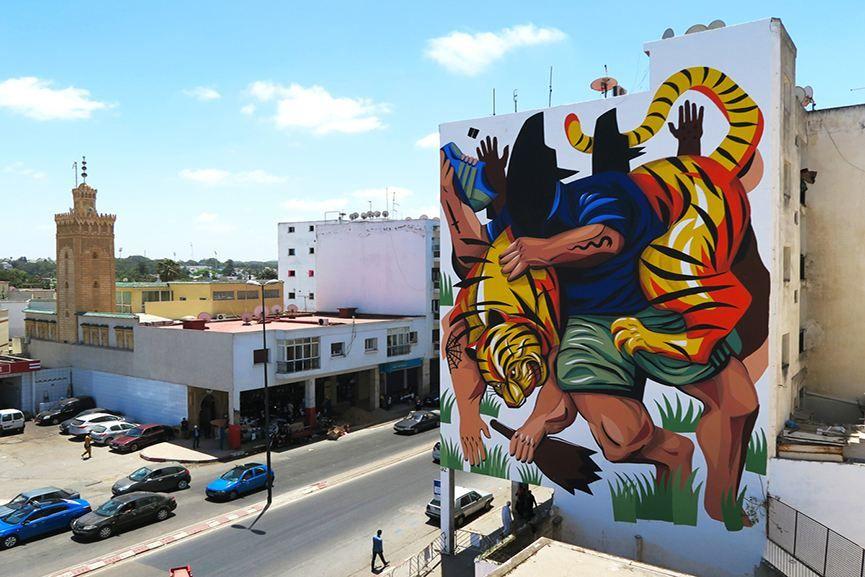 98 Koz Dos - Mural in Maracay Street art, Urban art and Murals - murales con fotos