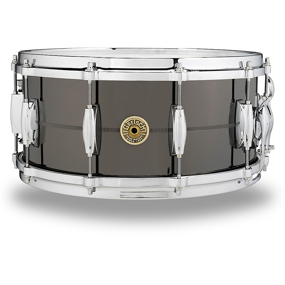 Gretsch Drums USA Solid Steel Snare Drum 14 x 6.5 in. Black Chrome