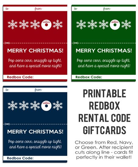 photograph regarding Printable Redbox Gift Cards named Totally free PRINTABLE Redbox Present Playing cards versus
