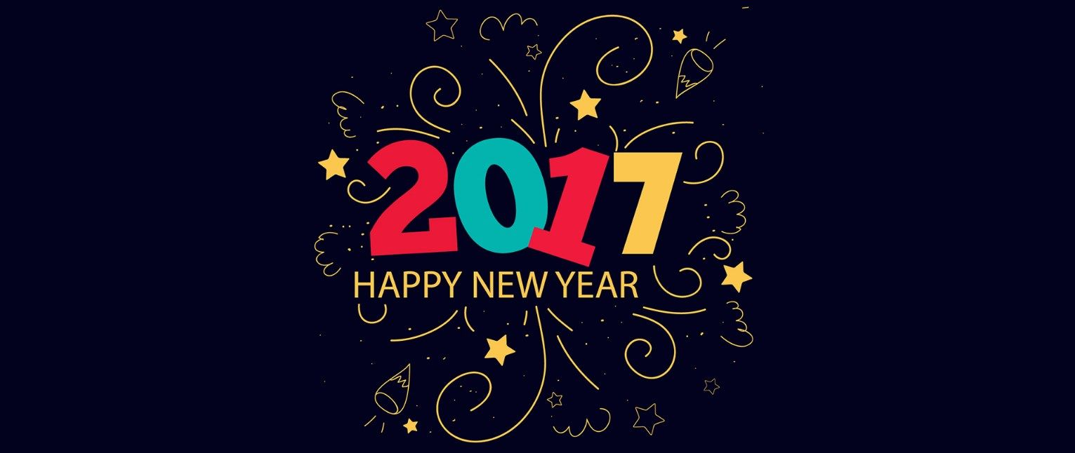 2017 New Year Wishes Header banner cover