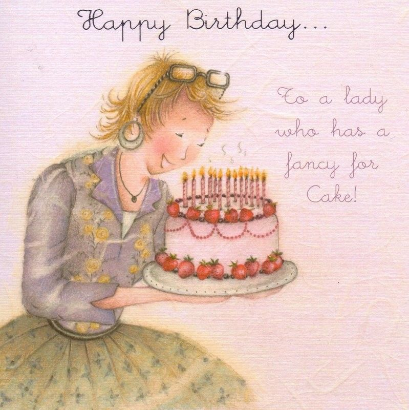 Happy Birthday To A Lady Who Has A Fancy For Cakes Card 2 95