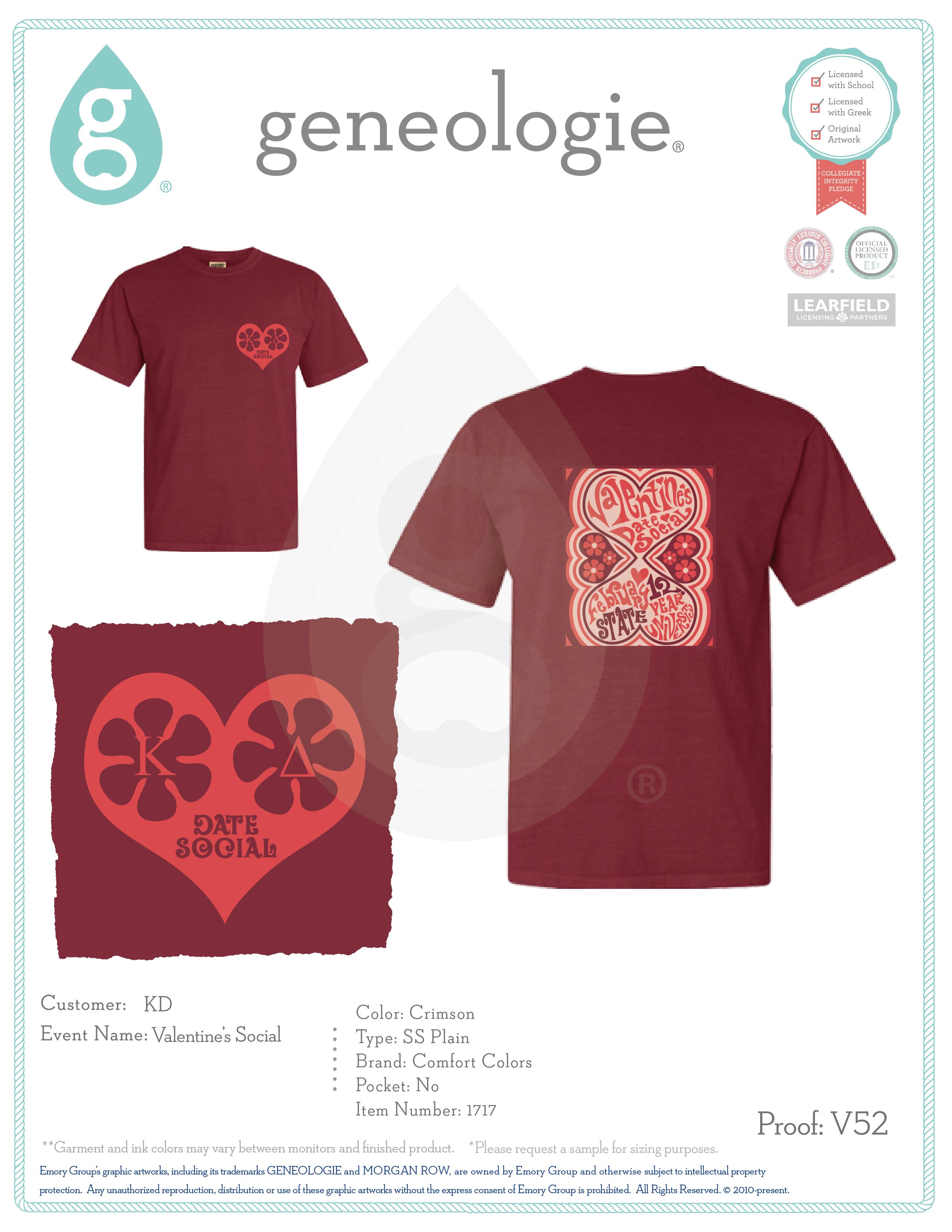 Shirt design red - Geneologie Greek Tee Shirts Greek Tanks Custom Apparel Design Custom Greek Apparel