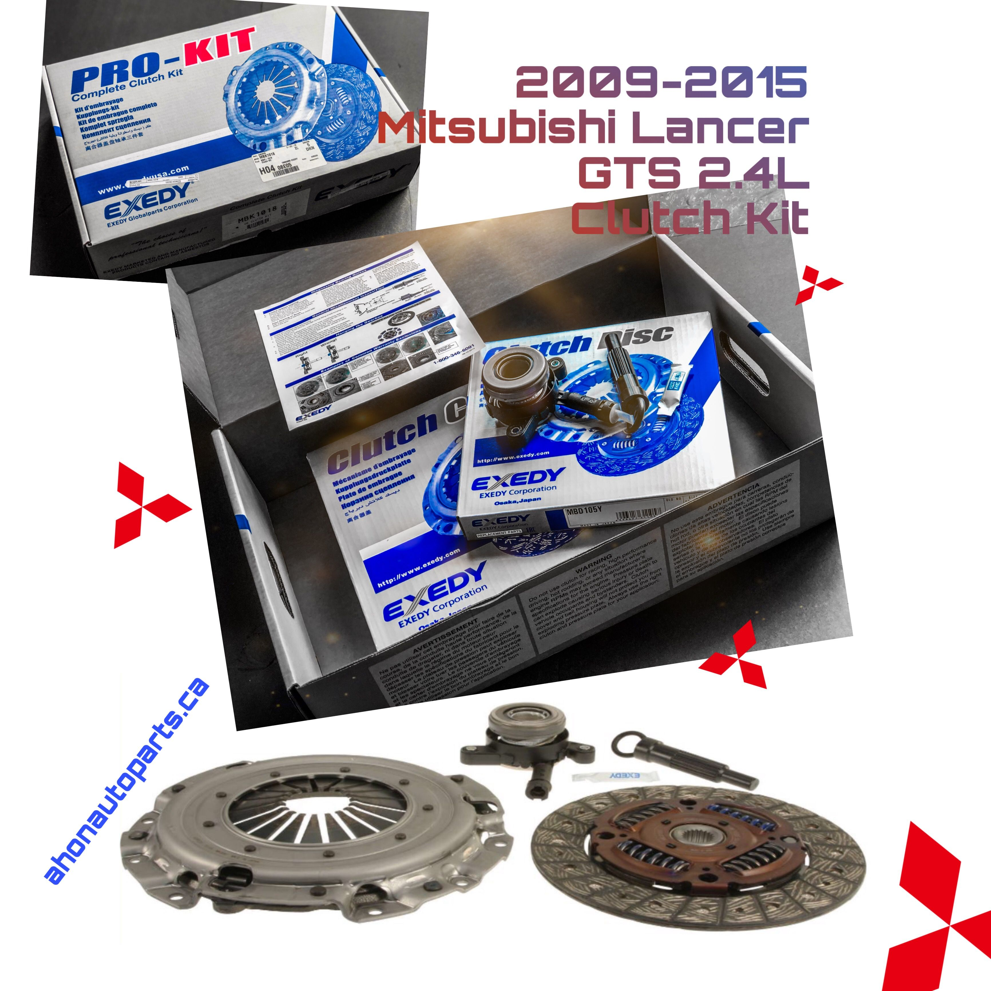 Clutch Kit by Exedy #MBK1018 This product fits: 2009-2015
