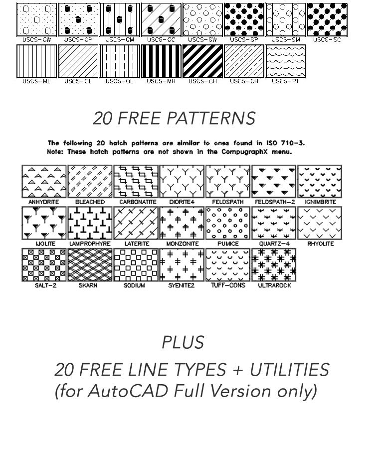 Autocad Hatch Patterns A Library Containing 365 Hatch