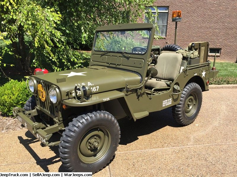 1952 M38 Willys Military Jeep Fully Restored Military Jeep Jeep