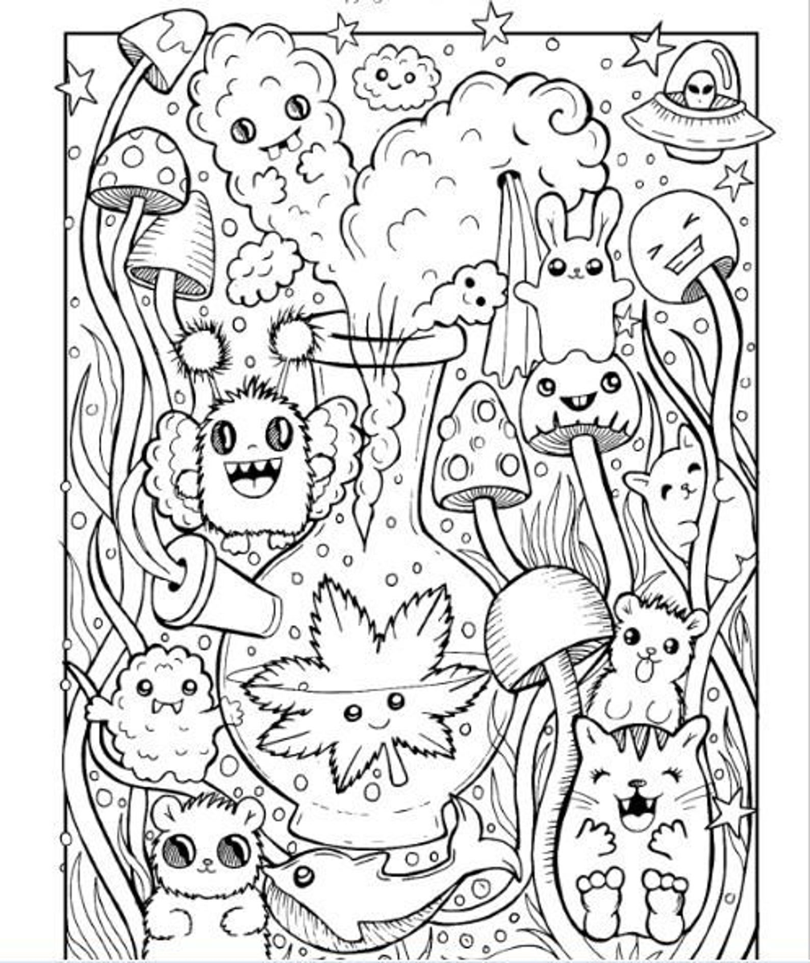 Stoner Coloring Pages for Adults