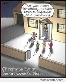 It S A No For Me Meme Simon Cowell Christmas Humor Christmas Jokes Simon Cowell