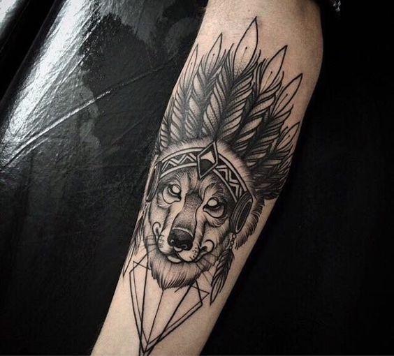 Indian Wolf Tatuagens Indígenas Americanas Tatuagem