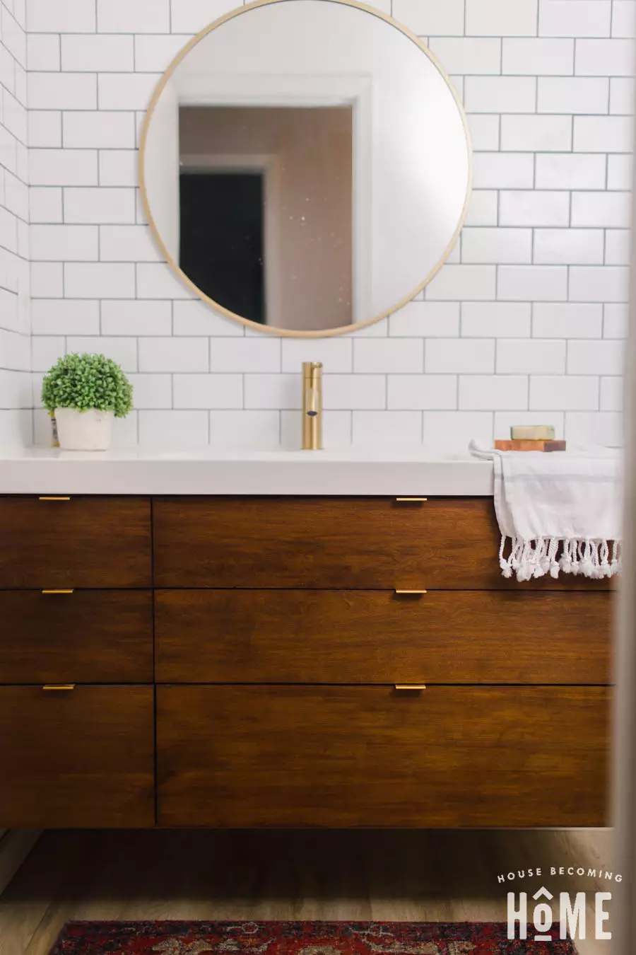 Bauen Sie Einen Badezimmerschrank Fur Ikea Odensvik Waschbecken Theke Haus Wird Zu Hause Wie Man Ein Diy Vani In 2020 Schrank Zimmer Waschbecken Ikea Badezimmer