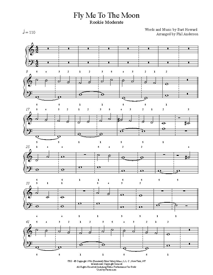 fly me to the moon bass pdf