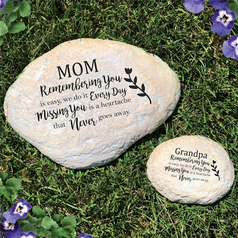 Engraved Missing You Is A Heartache Memorial Garden Stone Memorial Garden Stones Memorial Garden Memorial Stones