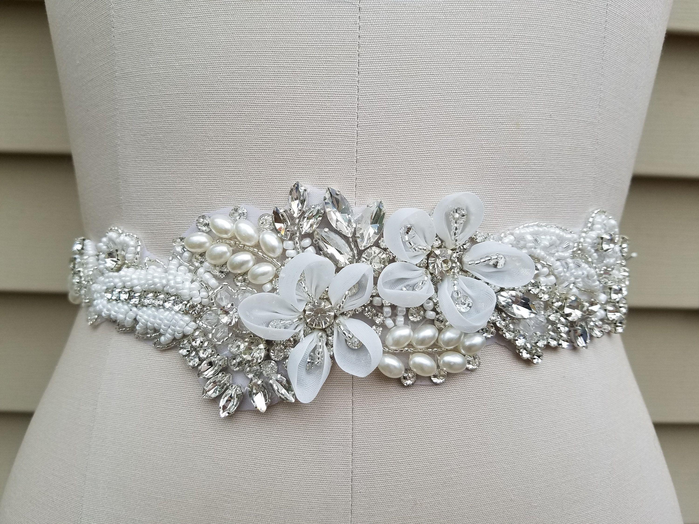 SALE Wedding Belt Bridal Belt Sash Belt Crystal Etsy in