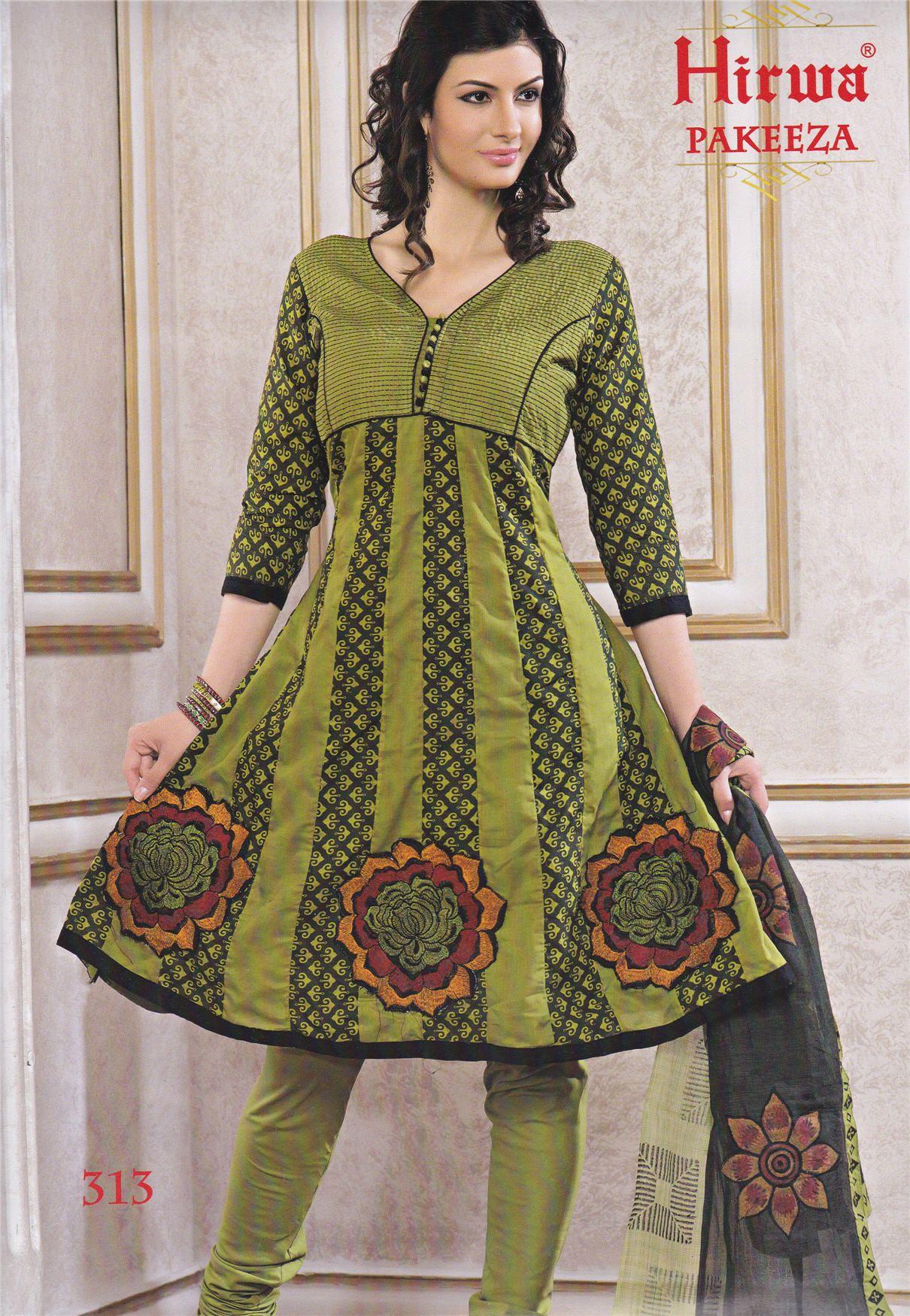 Anarkali Dress Material - Lace Work Ishita Fashions - Top Semi ...