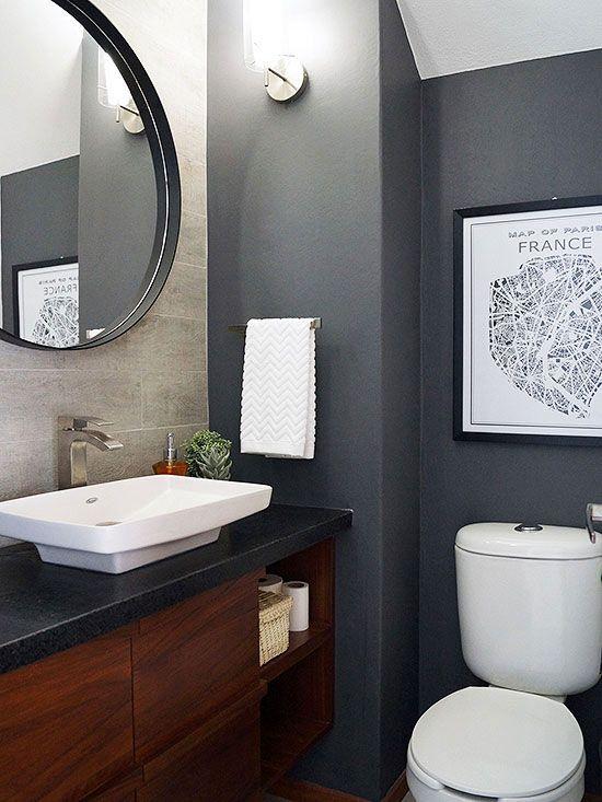 Tiny Rooms With Big Personality Gray Bathroom Decor Powder Room