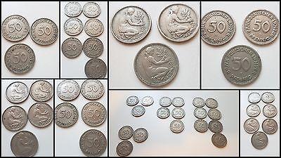 50 Pfennig Dm 1949 Jfdg Bank Deutscher Länder Brd 18 Stück Dm