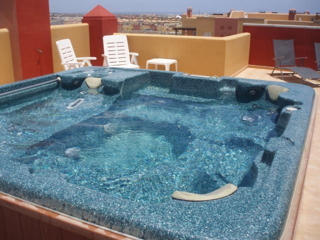 Penthouse Apartment With Private Roof Terrace With Hot Tub   Las Brisas,  Corralejo,