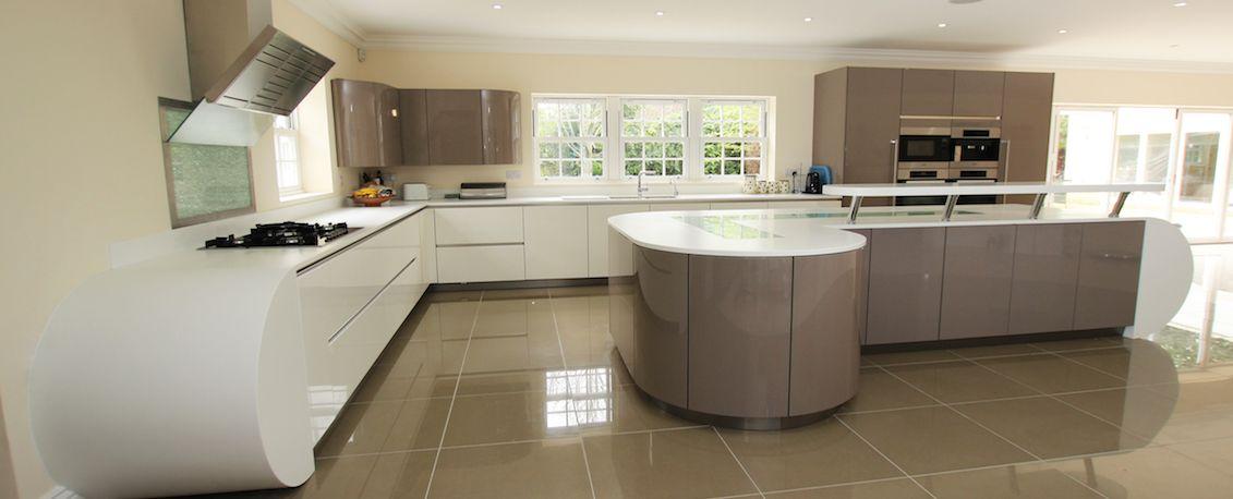gloss curved kitchen from lwk kitchens kitchens kitchen kitchen rh pinterest com