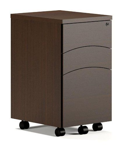 Brighton Mobile 3 Drawer Pedestal File Finish: Cherry by