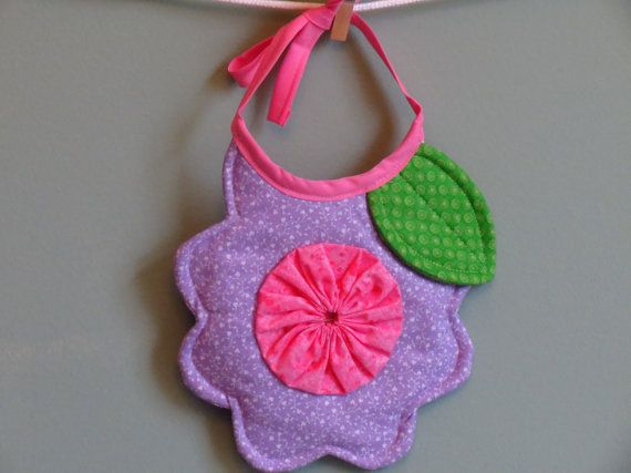 Flower Shaped Baby Bib by CraftersObsession on Etsy, $10.00