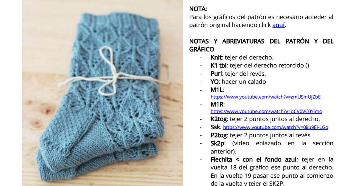 Abril - Interlocking Leaves.pdf   Tejidos a dos agujas.   Pinterest ...