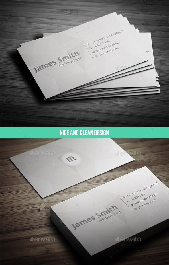 17 Ready to Print Minimalist Business Card Templates | Minimal ...