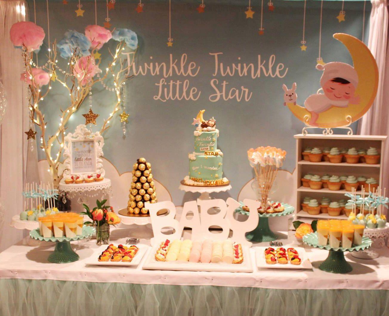 twinkle twinkle little stars mint, baptism, christening, birthday ...