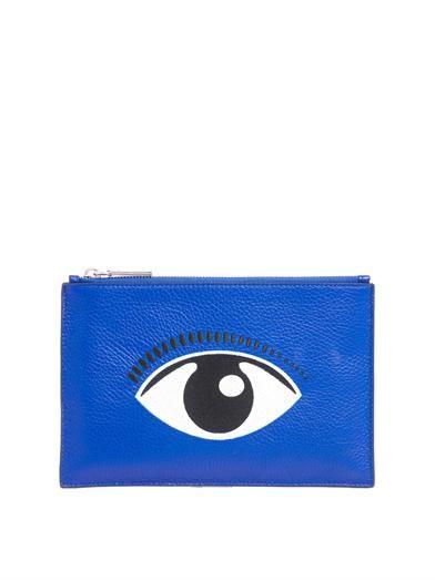 aaf895b6c6b Embroidered eye leather pouch | Kenzo | MATCHESFASHION.COM | panache ...