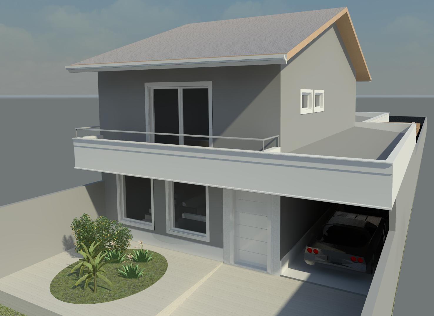 Casa cinza fachada pesquisa google pintura casa - Pintura exterior fachada ...