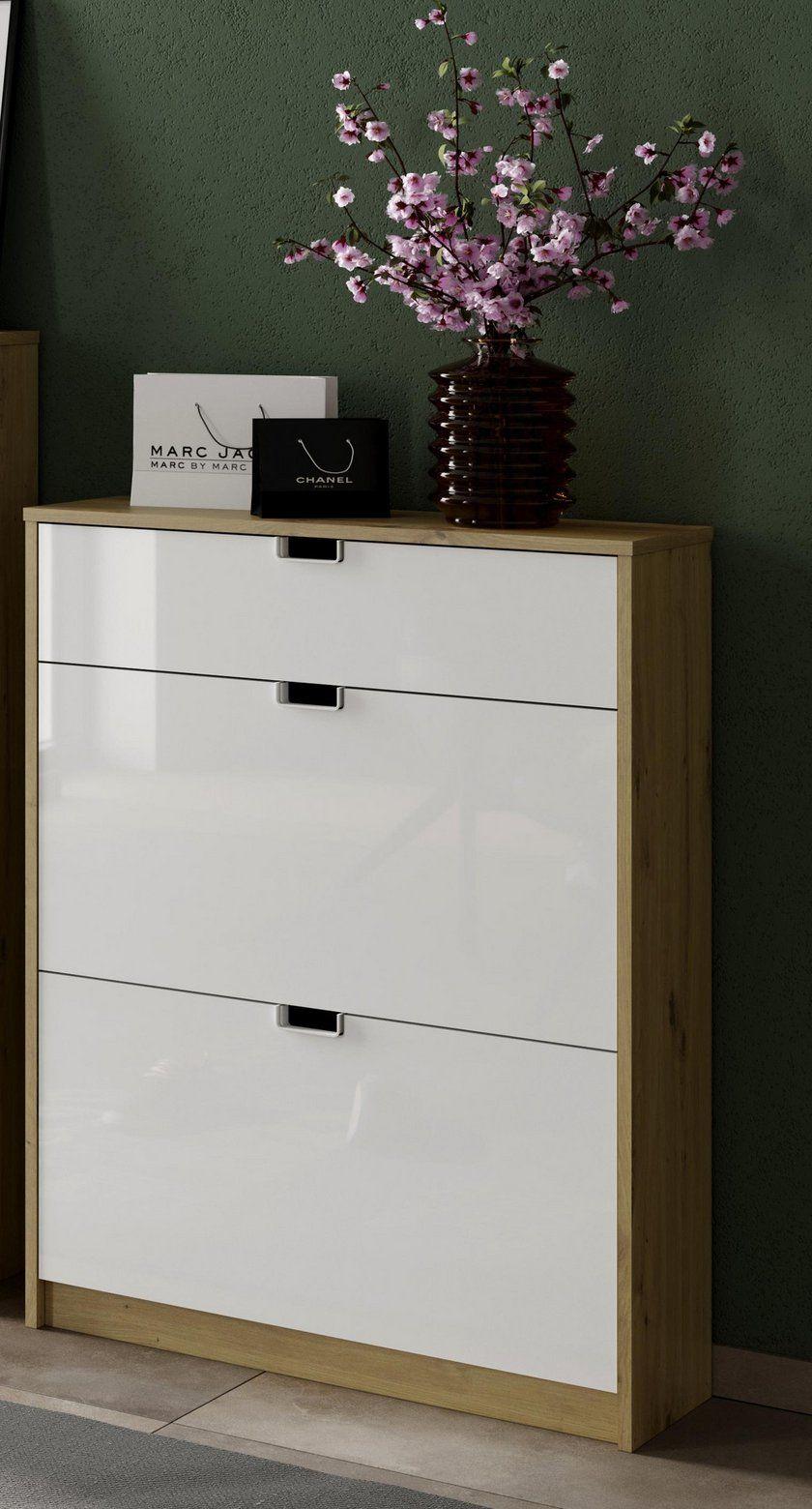 Schuhkipper In Weiß Eichenfarbe Online Bestellen Kipper Eiche Dekor