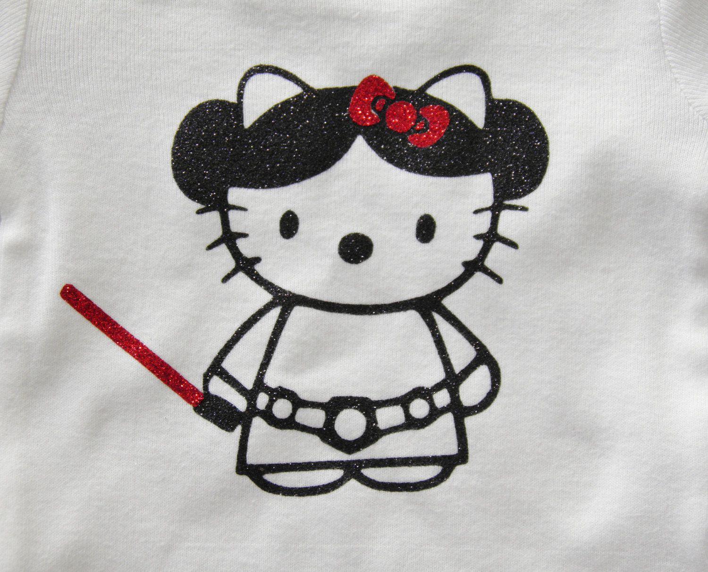 Sparkly hello kitty princess leia star wars tee - Princesse hello kitty ...