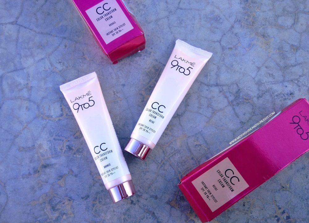 Lakme 9to5 Cc Color Transform Cream Review Http Www Beautyscoopindia Com Lakme 9to5 Cc Color Transform Cream Review Lakme C Everyday Make Up Cc Cream Cream