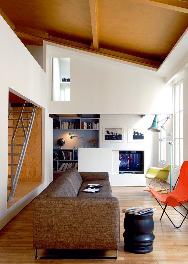 Un Salon Design Concu En Longueur Amenagement Petit Salon Idee