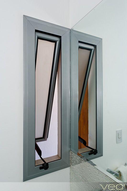 Ventana para baño (abierta) puertas y ventanas Pinterest