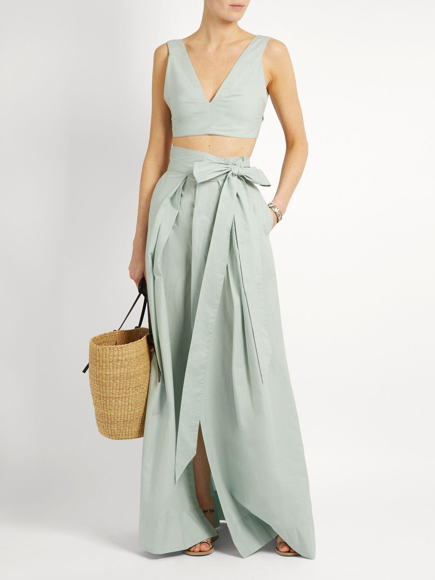 b1c839c5f Click here to buy Kalita Avedon Days cotton-poplin maxi skirt at  MATCHESFASHION.COM
