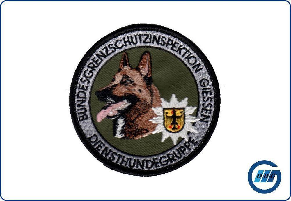 Abzeichen Diensthundegruppe BGSI Giessen Malinois Hunde