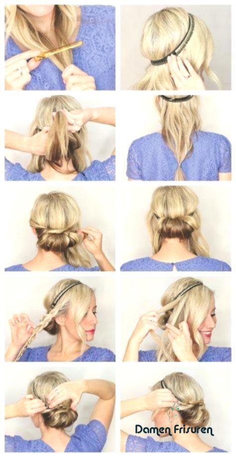 Haarband Fur Kurze Haare Haarband Frisur Haarband Frisur Anleitung Kurze Haare Haarband