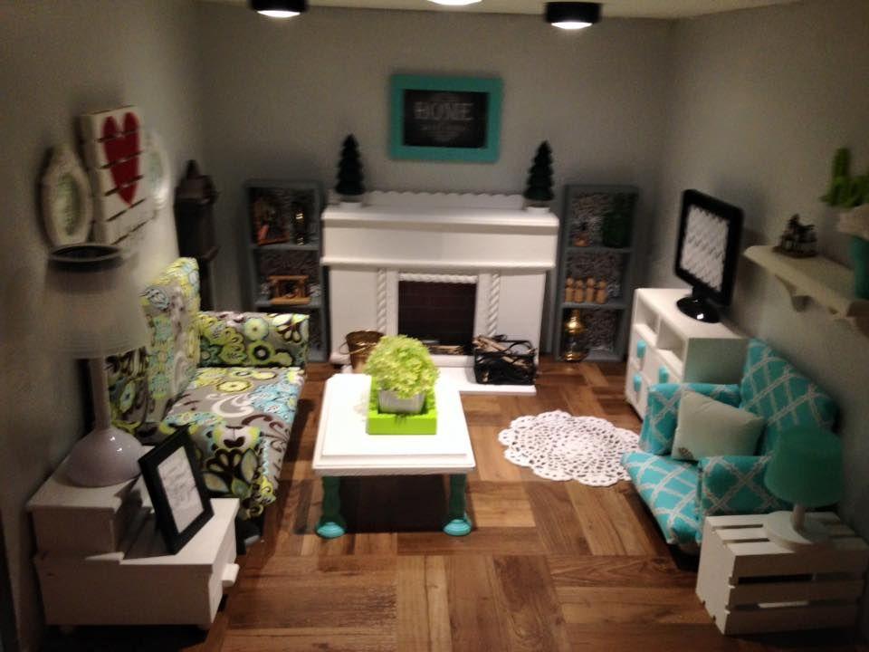 American girl dollhouse living room