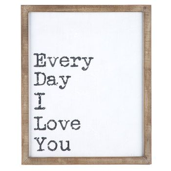 Every Day I Love You Mdf Wall Sign Hallway Wall Decor Wood Wall Decor Frame Wall Decor