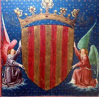 CATALUNYA_Armes reials del Casal de Barcelona, comtes de Barcelona, prínceps de Girona (etc.), reis d'Aragó, València, Mallorca i Sicília,... etc. / Royal arms of the House of Barcelona, counts of Barcelona, princes of Girona, kings of Aragon, Valencia, Mallorca & Sicily, etc.