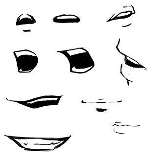 Manga-Mund zeichnen #comicsandcartoons