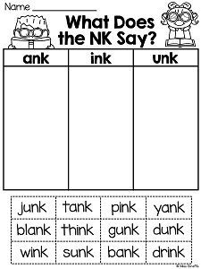 Ending Blends Worksheets and Activities   Anything and Everything ...