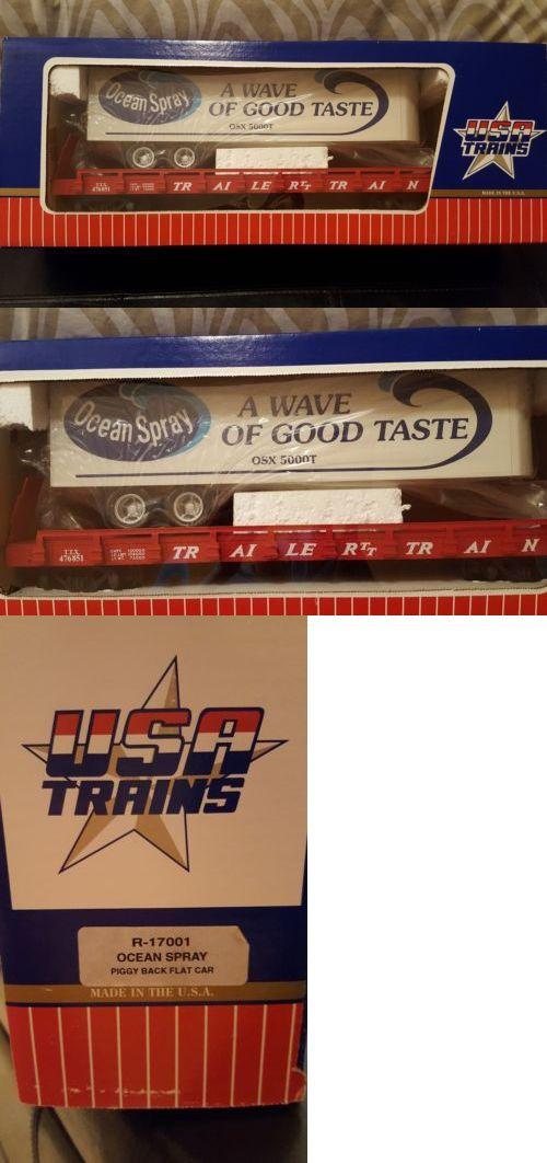 Freight Cars 122580: Usa Piggyback Flatcar Ocean Spray R17001 ...