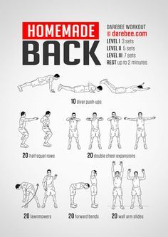 Homemade Back Workout