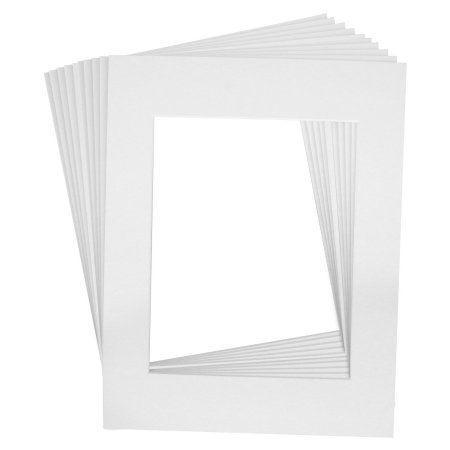 10 Art Mats Premier Quality Acid-Free Pre-Cut 11x14 White Picture ...