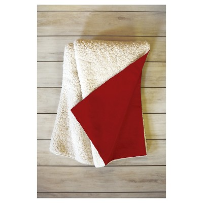 """Red Novelty Leah Flores Mistletoe Kiss Sherpa Throw Blanket (50""""X60"""") - Deny Designs"""