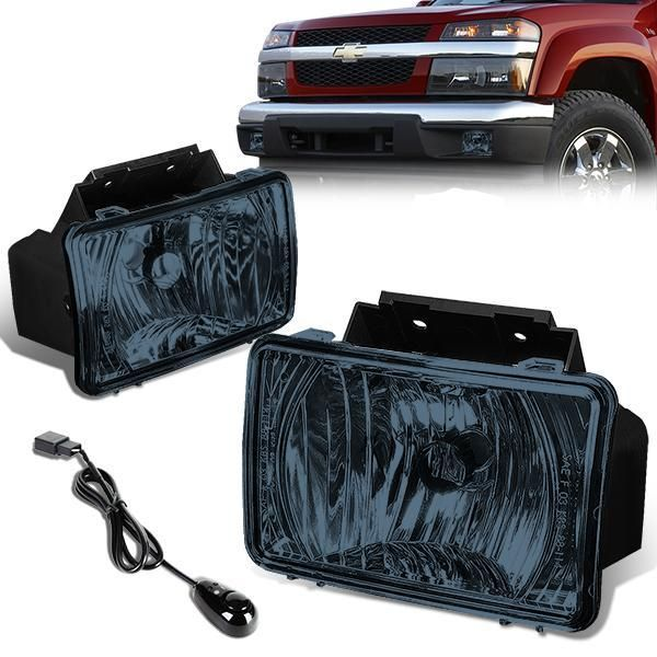 04 12 Chevy Colorado Gmc Canyon Smoked Lens Fog Lights W Switch