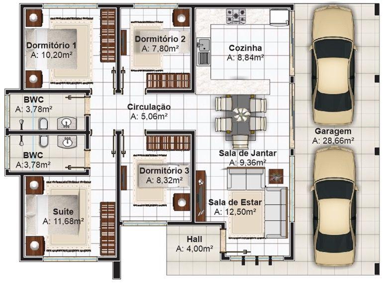 2 7 plano de casa primer piso casa planos grandes gratis - Planos de casas grandes ...