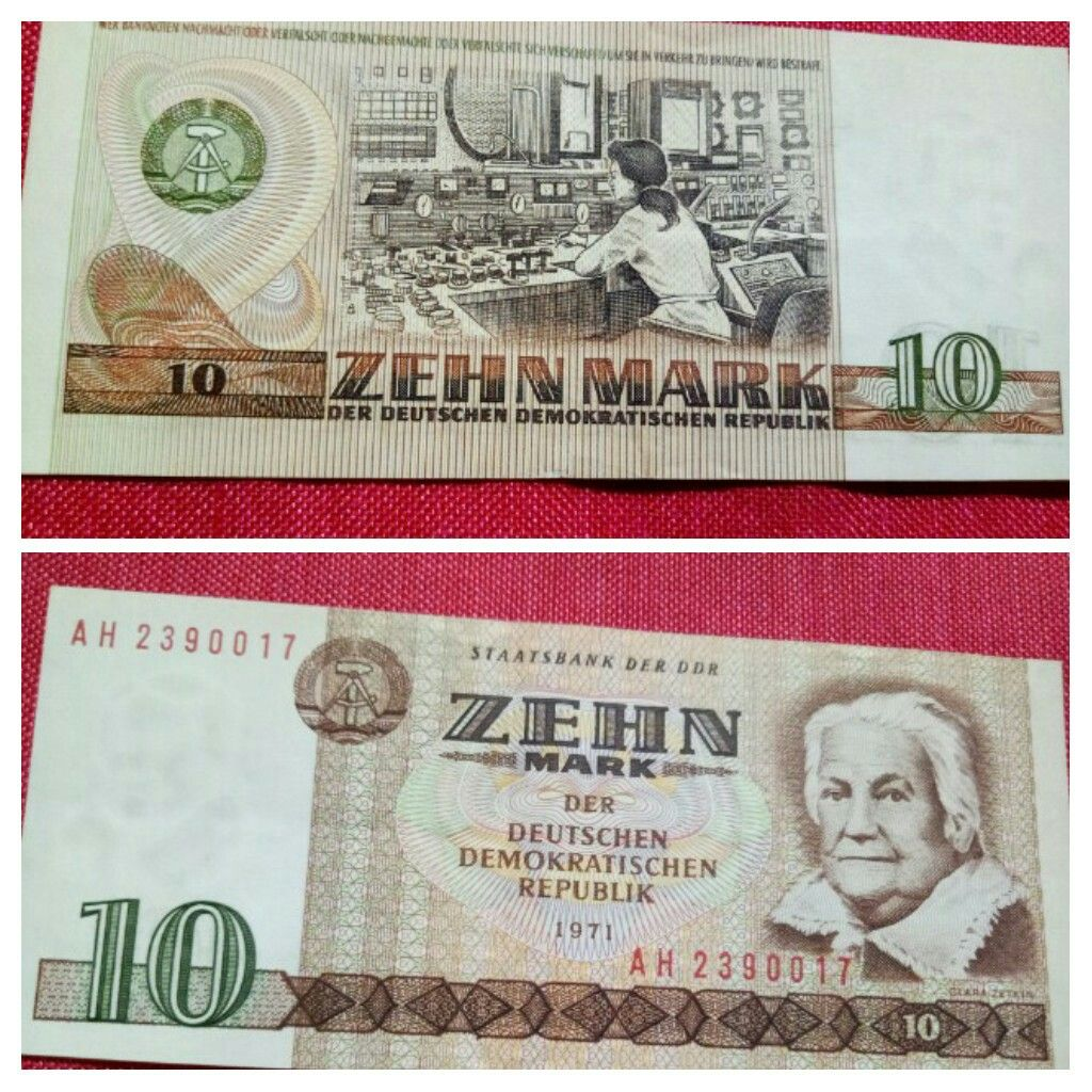 10 Mark Germany A D 1971 Zehnmark Banknote Germany Ddr Deutsche Mark